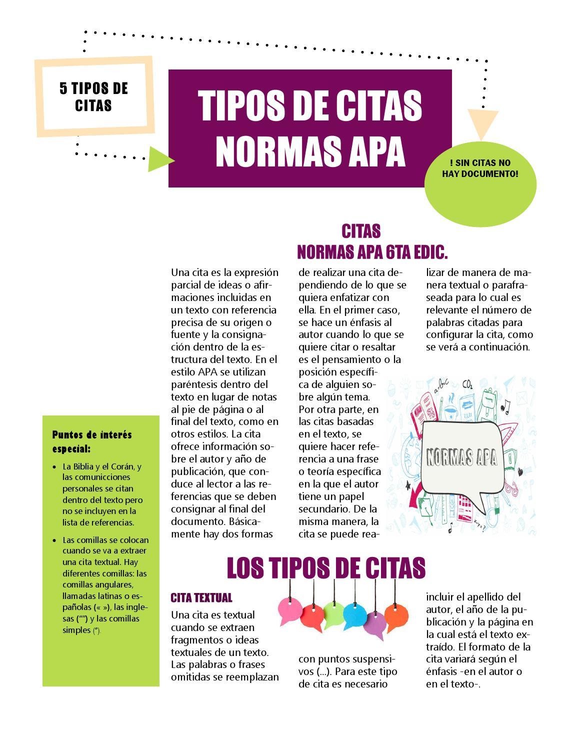 Tipos De Citas Normas Apa Subir By Aguilar Mafe Issuu