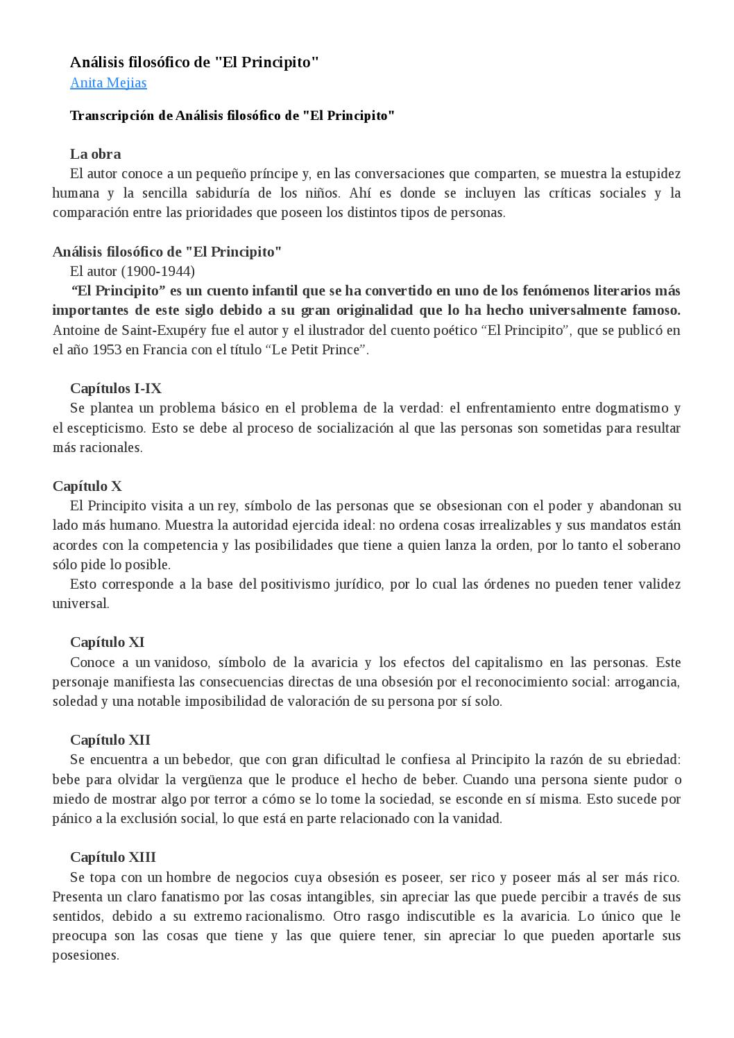 Análisis filosófico principito by Lulú Valencia - Issuu