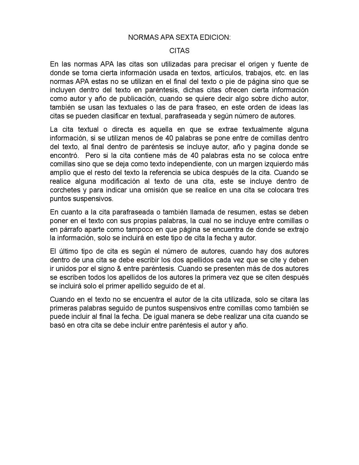Colorful Resumen Normas Apa 6 Motif - Professional Resume Examples ...
