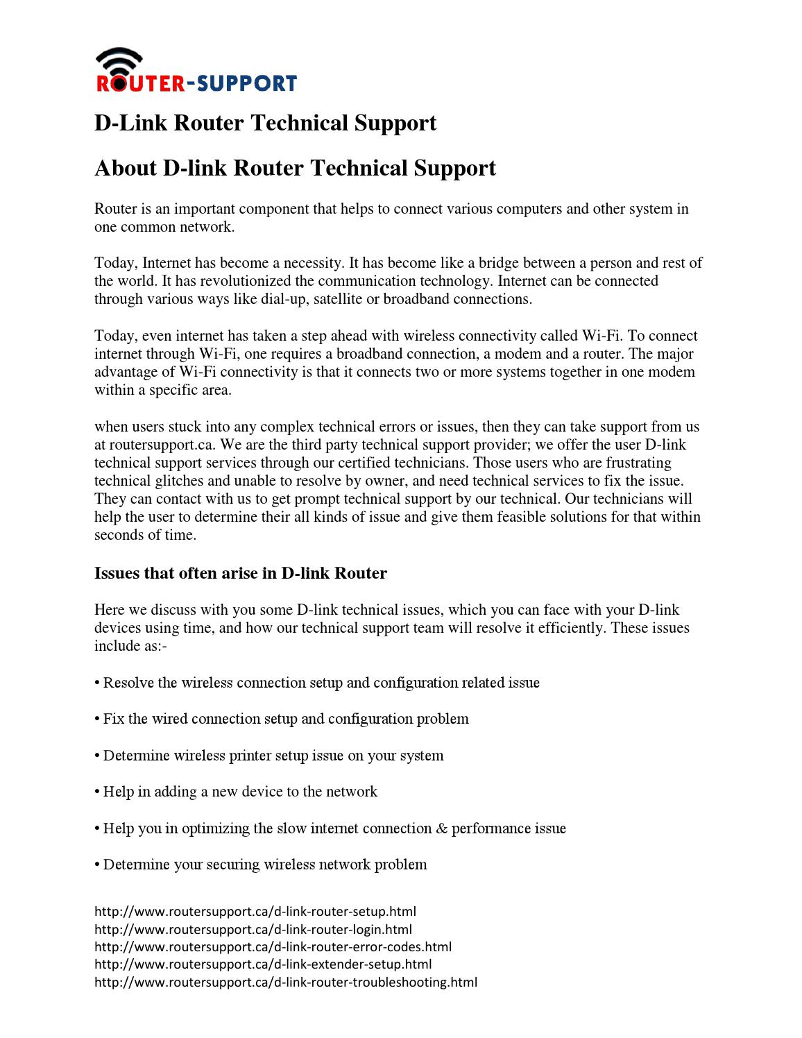D link router technical support by Routersupportcanada - issuu