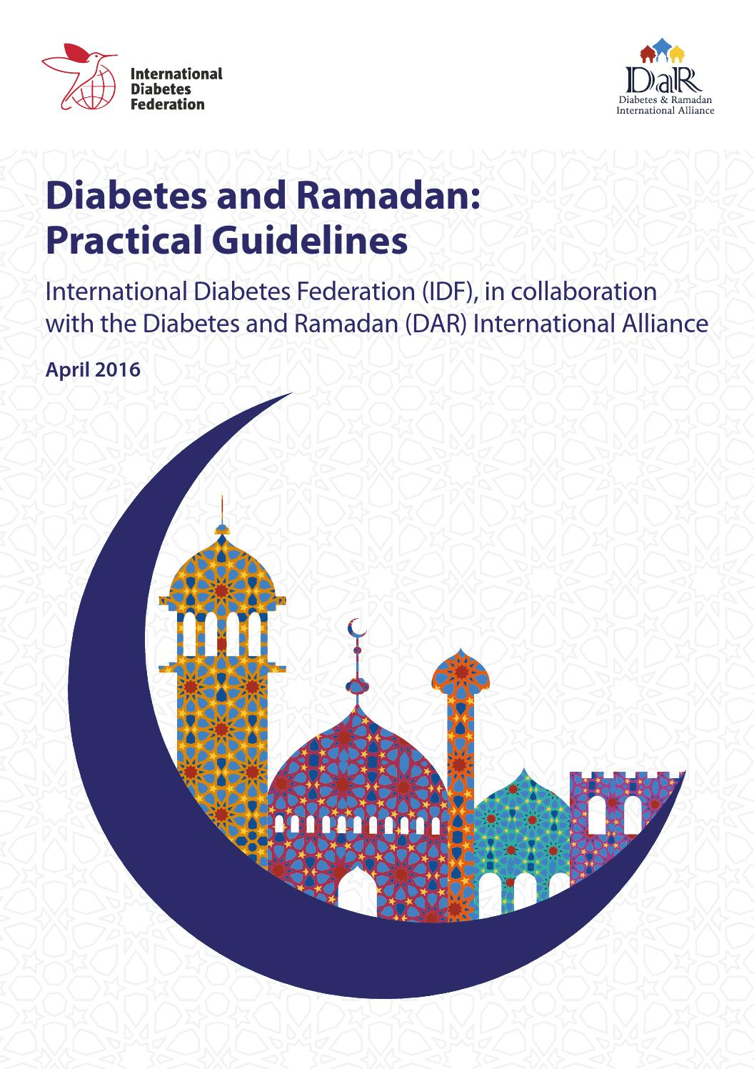 Diabetes and ramadan practical guidelines by international diabetes federation issuu