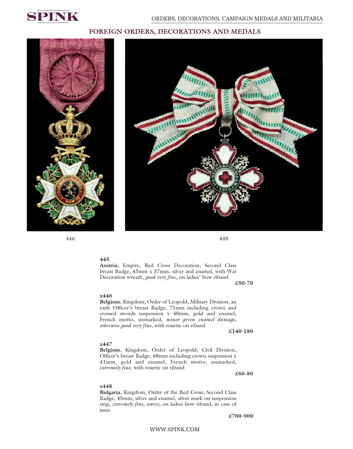 Orders, Decorations, Campaign Medals and Militaria by Spink