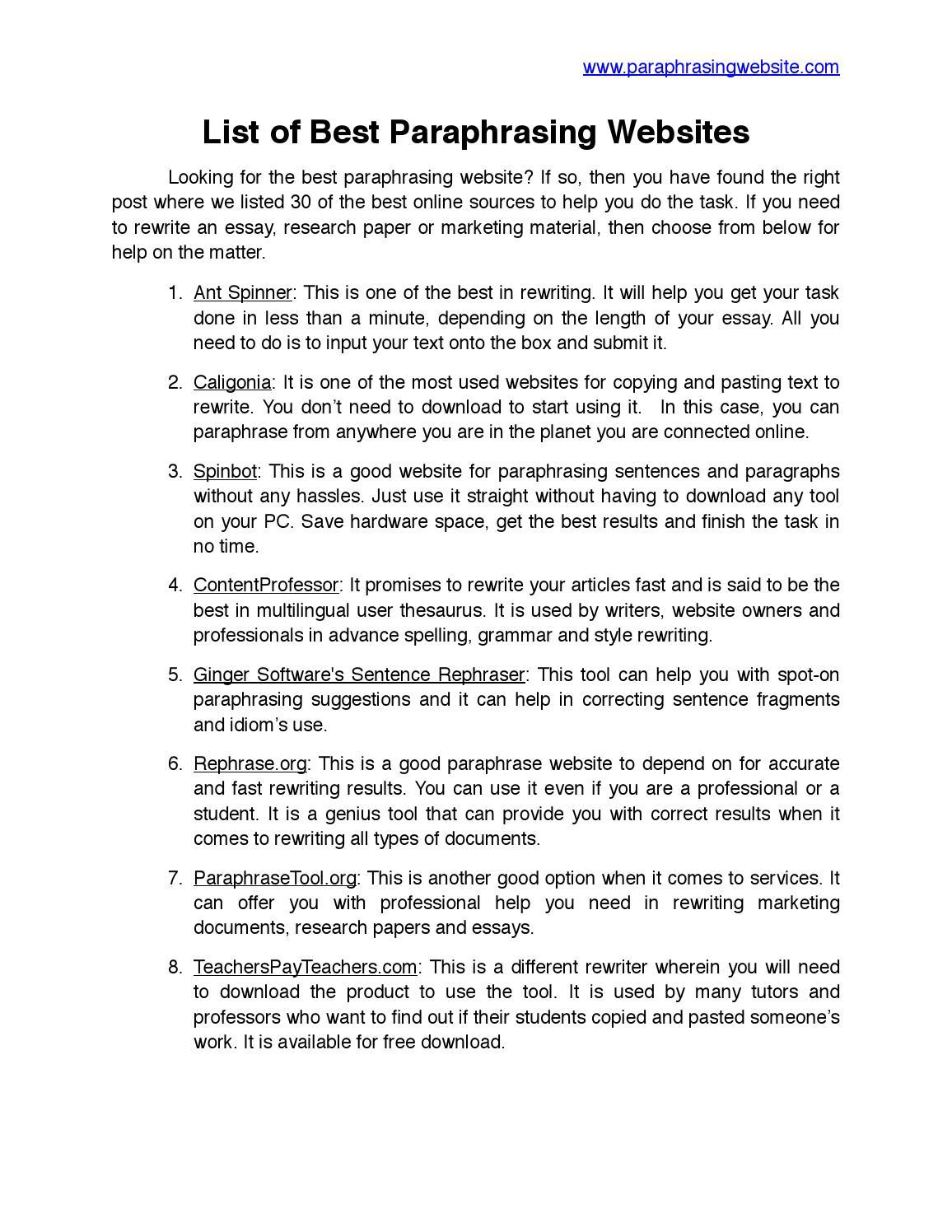 Rewrite essay free ten steps to write an essay