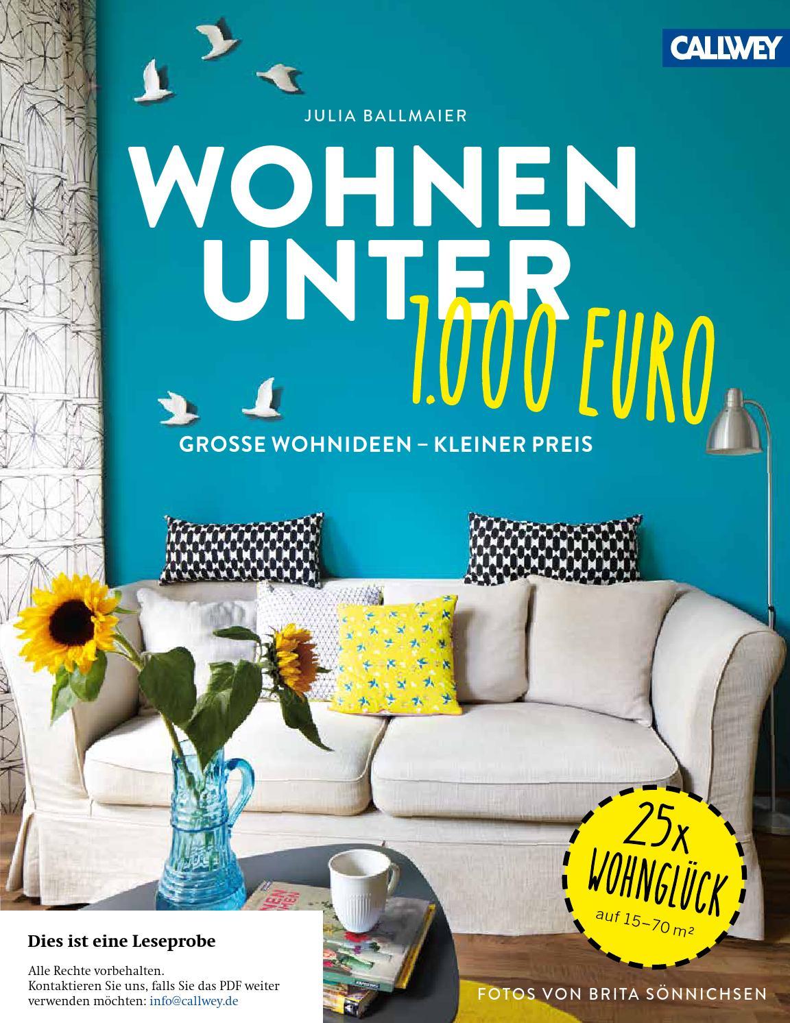 wohnen unter 1000 euro   callwey wohnbuch - Wohnideen In Beigeweiss
