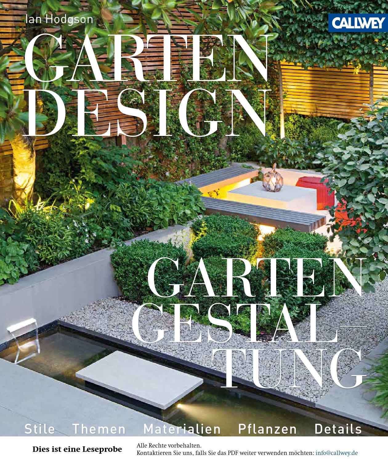 Hodgson, Gartendesign - Gartengestaltung By Georg D.w. Callwey ... Kreative Gartendesigns Rasen