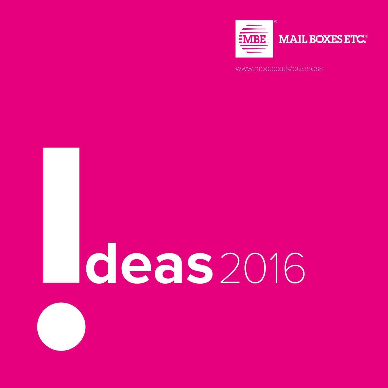 Mail Boxes Etc Ideas catalogue 2016 by Mail Boxes Etc UK & Ireland