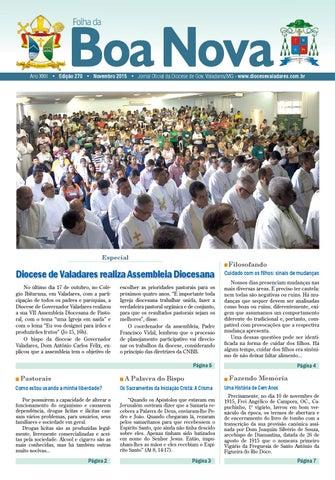 d4366b3e4eff Folha da Boa Nova Edição de Novembro/2015 by Dicoese de Governador ...