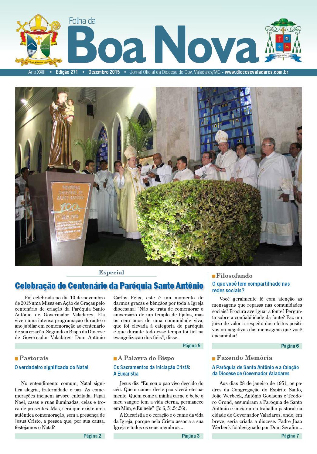 fd0e2ac0fdd2 Folha da Boa Nova Edição de Dezembro/2015 by Dicoese de Governador Valadares  - issuu
