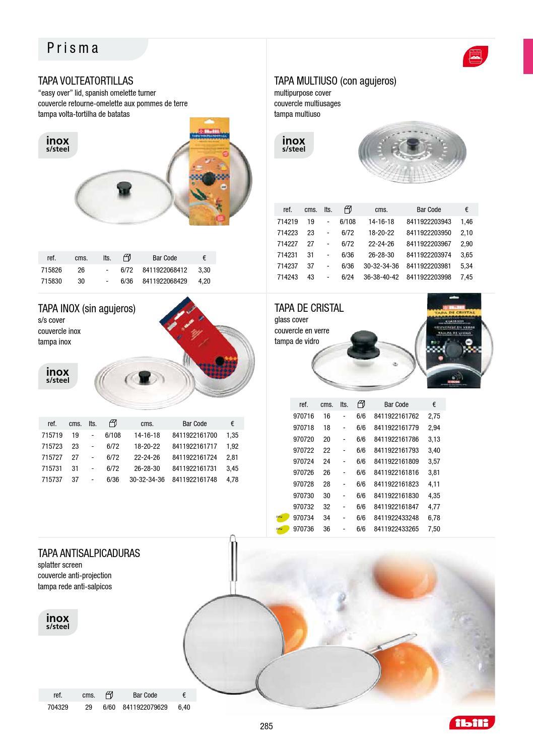 IBILI 970718 Tapa Cristal 18 Cms.