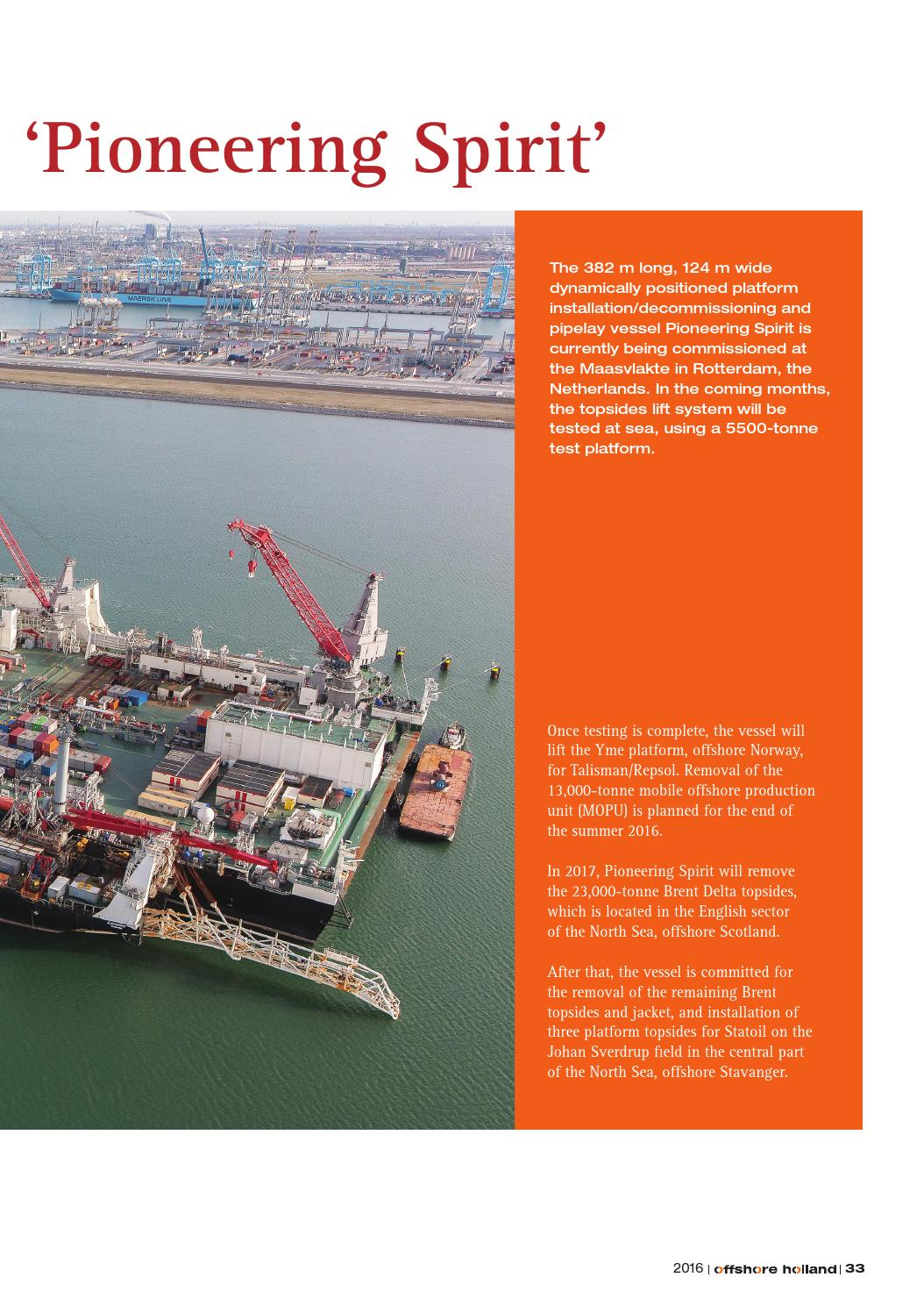 Offshore Holland | 12 2016 by Uitgeverij Tridens - issuu