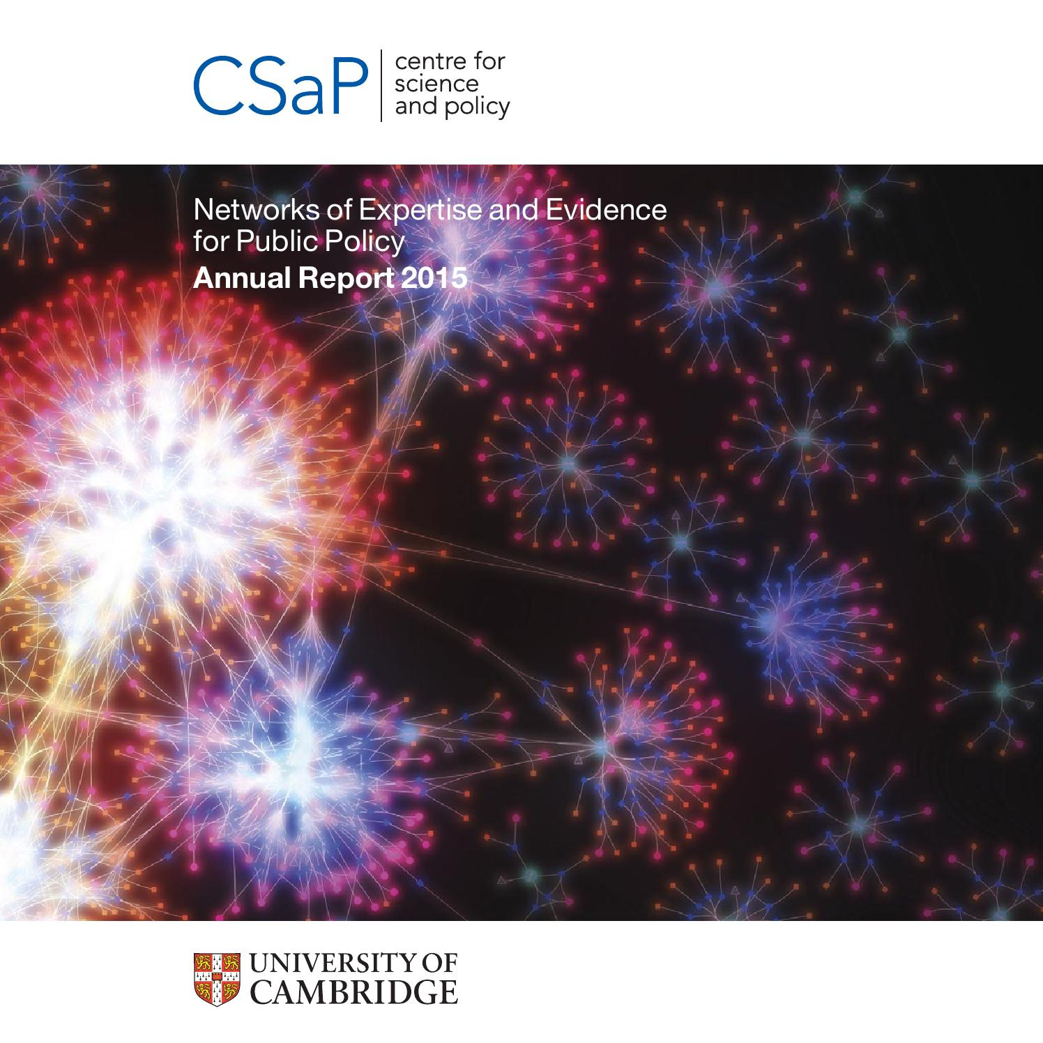Csap 2015 annual report by Centre for Science and Policy - issuu