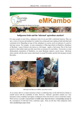 Indigenous fruits and agriculture markets by I love reading - issuu