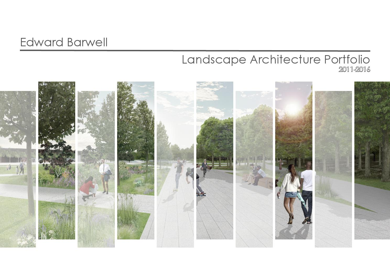 Landscape architecture portfolio by ed barwell issuu for List of landscape architects