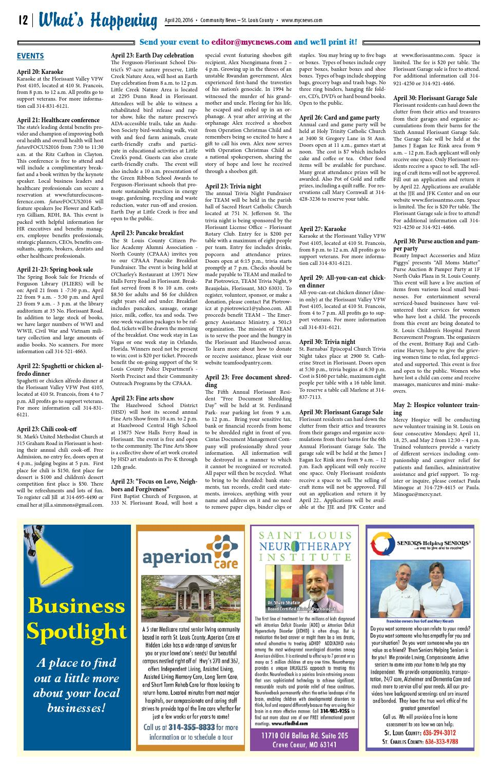 CN: April 20, 2016 by Community News - issuu