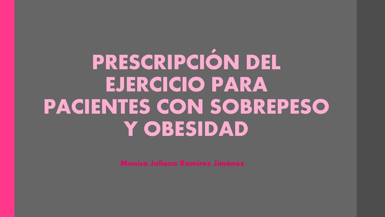 prescripción de ejercicio de diabetes tipo 1 para la obesidad