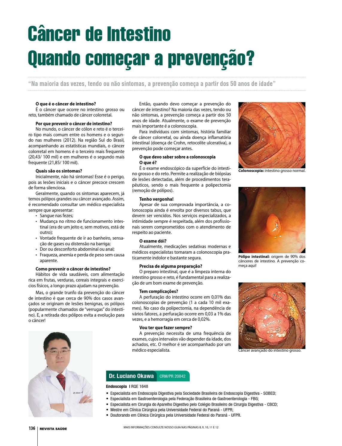 sintomas cancer de intestino avançado