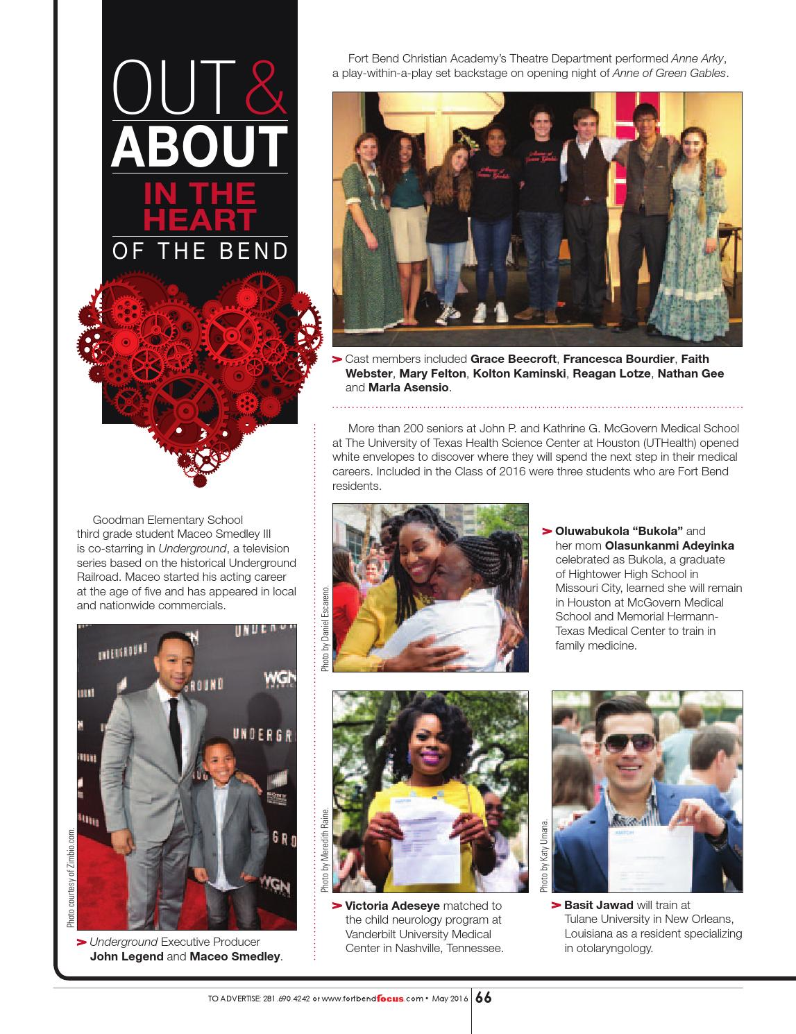 May 2016 - Fort Bend Focus Magazine - People • Places