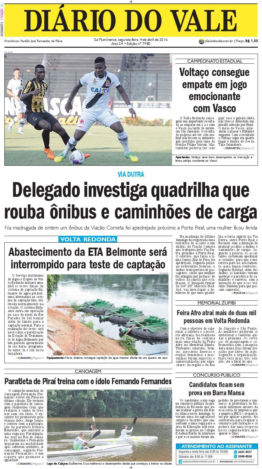 7980 Diario Segunda Feira 04 04 2016 By Diário Do Vale Issuu