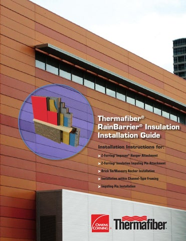 Rainbarrier installation guide by thermafiber issuu for Exterior z furring channel