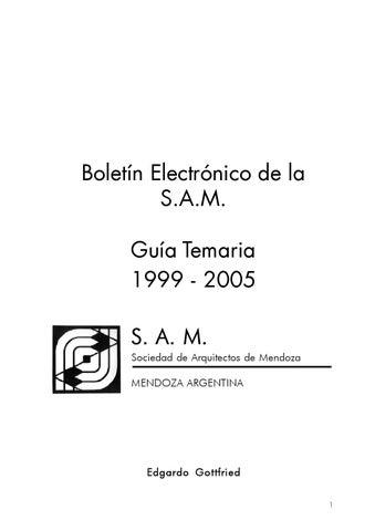 Boletin electronico de la sociedad de arquitectos de mendoza guia temaria 1995 2005 by - Sociedad de arquitectos ...