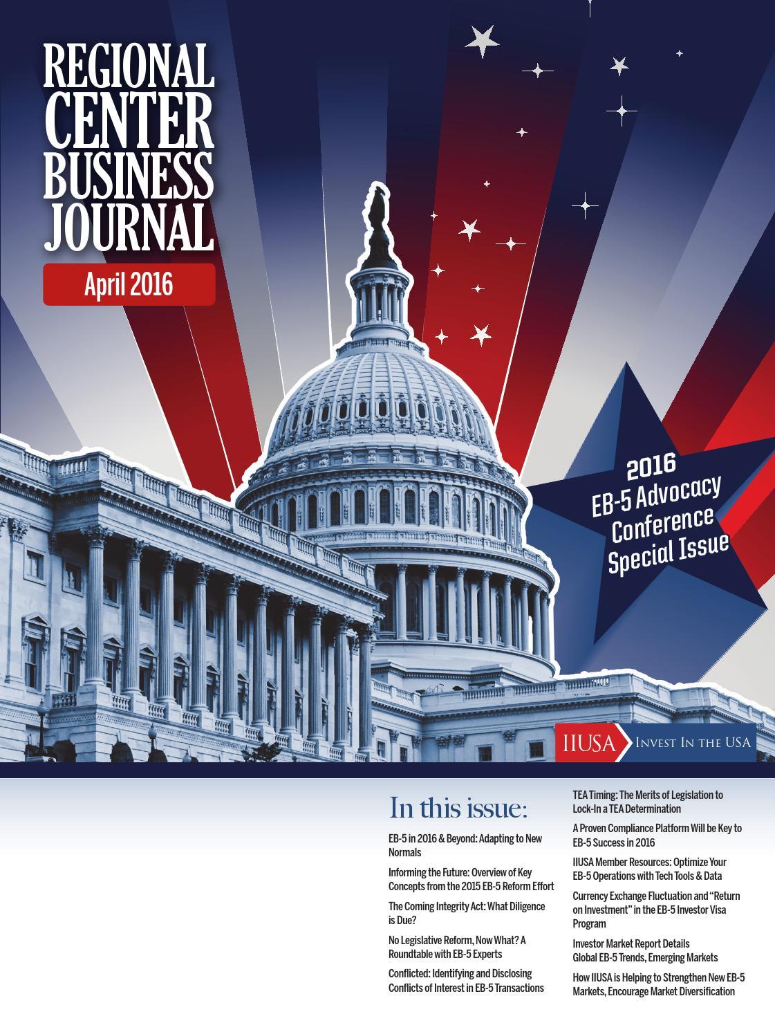 Regional Center Business Journal (04/2016) by IIUSA - issuu