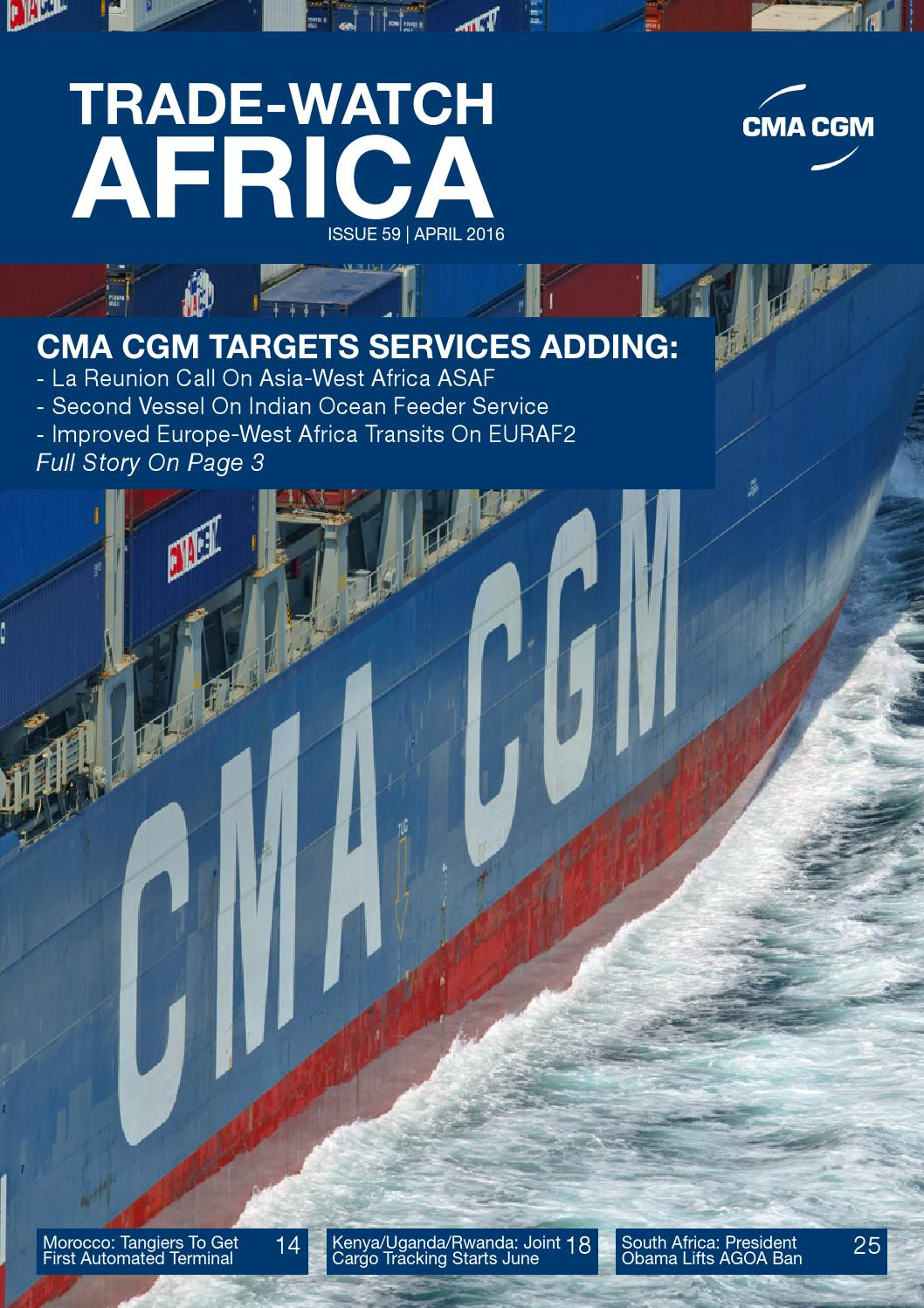 CMA CGM Trade-Watch - Issue 59 - April 2016 by CMA CGM Group