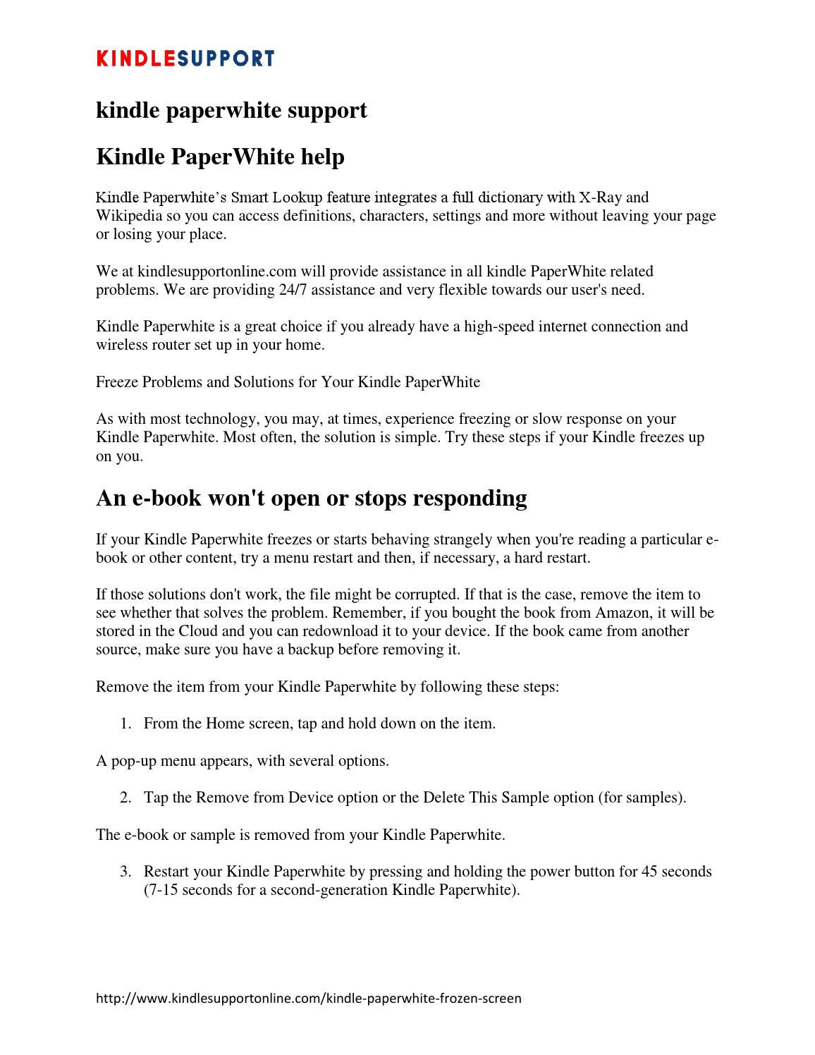 Kindle paperwhite screen frozen | Kindle Paperwhite Frozen, Help or