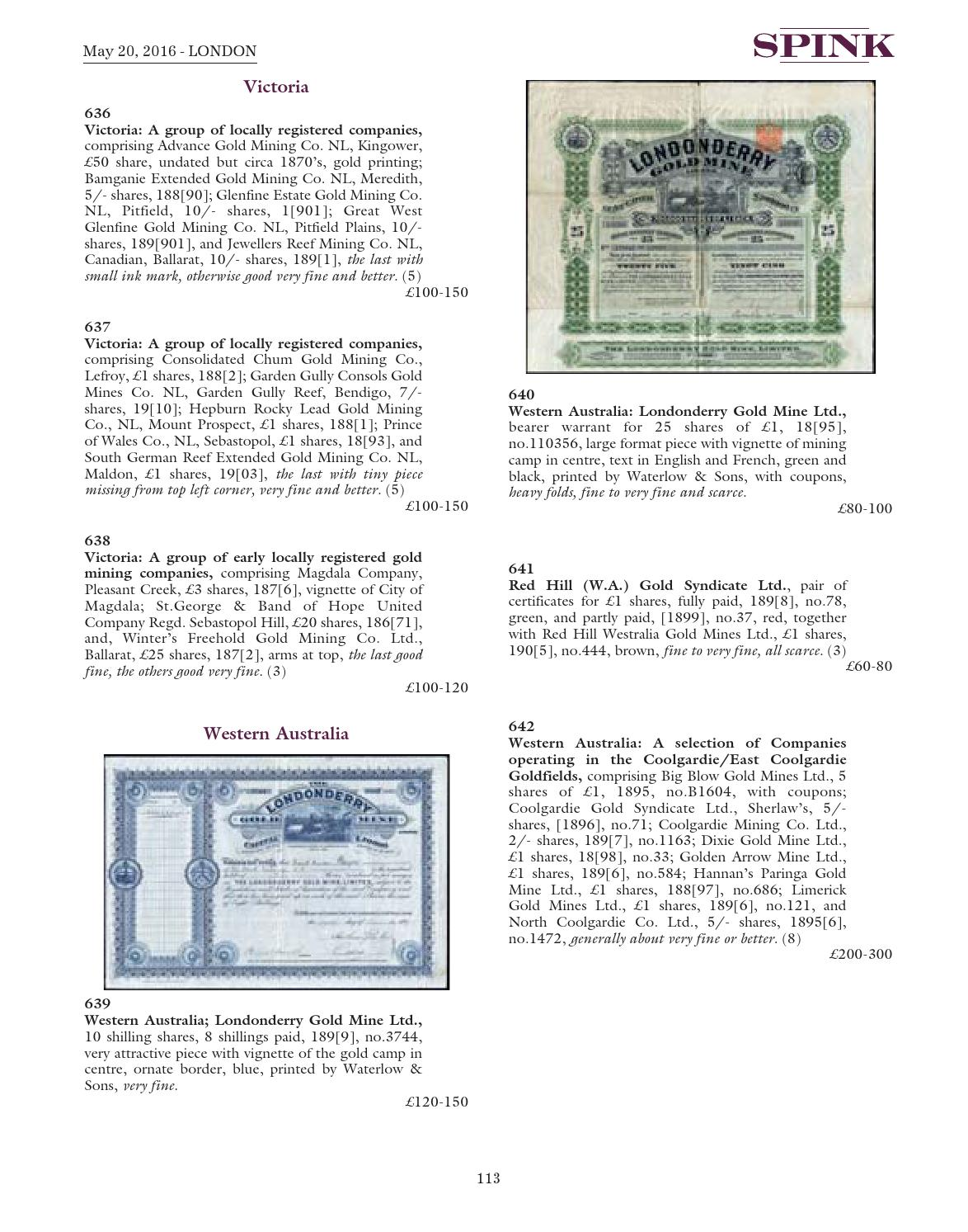 Bonds and Share Certificates of the World by Spink and Son - issuu