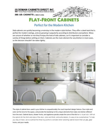 Flat Front Cabinets Perfect For The Modern Kitchen By Domain Cabinetsdirect Issuu