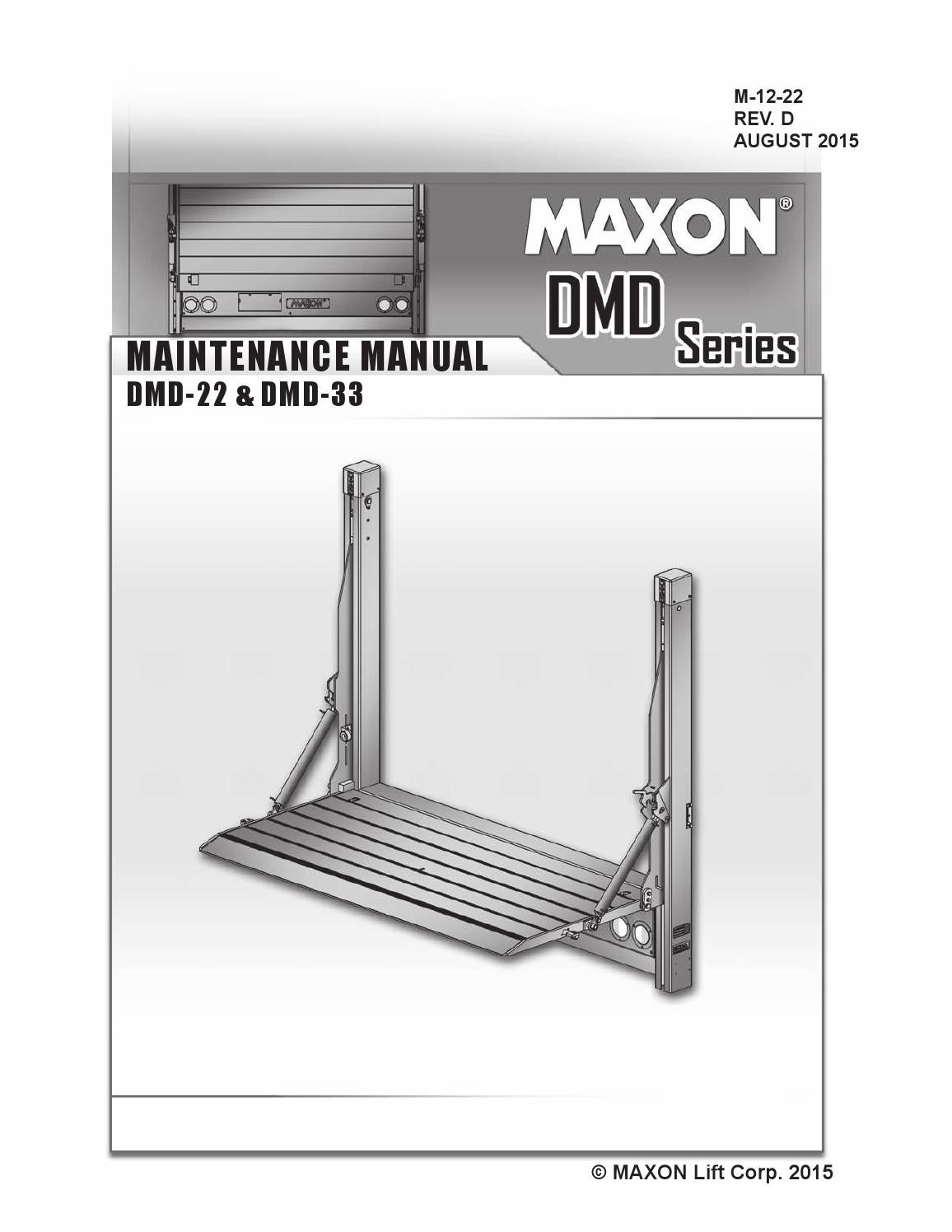 page_1 maxon dmd series liftgate by the liftgate parts co issuu maxon lift gate switch wiring diagram at mifinder.co