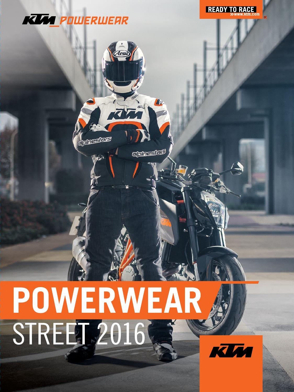 große Auswahl an Designs günstig kaufen hohes Ansehen KTM PowerWear Street Catalog 2016 Deutsch by KTM GROUP - issuu