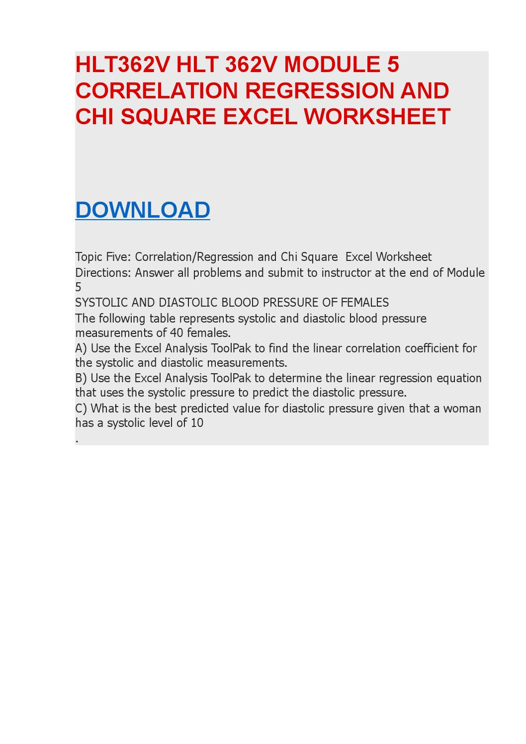 hlt 362v anova excel Hlt 362v entire course applied statistics for health care professionals hlt 362v entire course applied statistics for health hlt 362 module 4 anova excel worksheet.