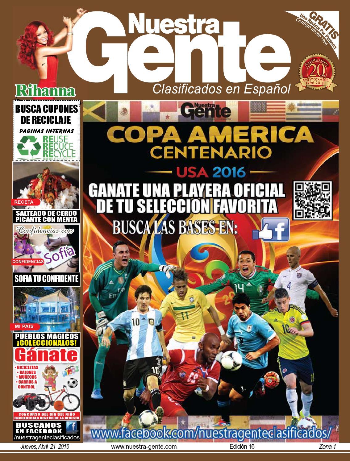 Nuestra Gente 2016 Edicion 16 Zona 1 by Nuestra Gente - issuu 1b1ecd9df44a5