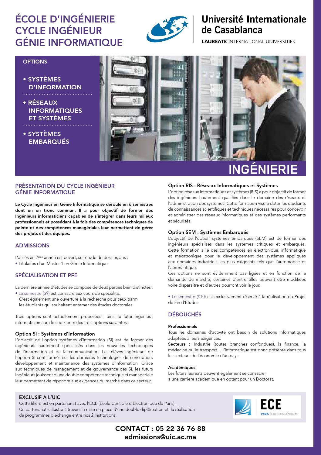 39775ece20a Génie informatique by Université Internationale de Casablanca - issuu