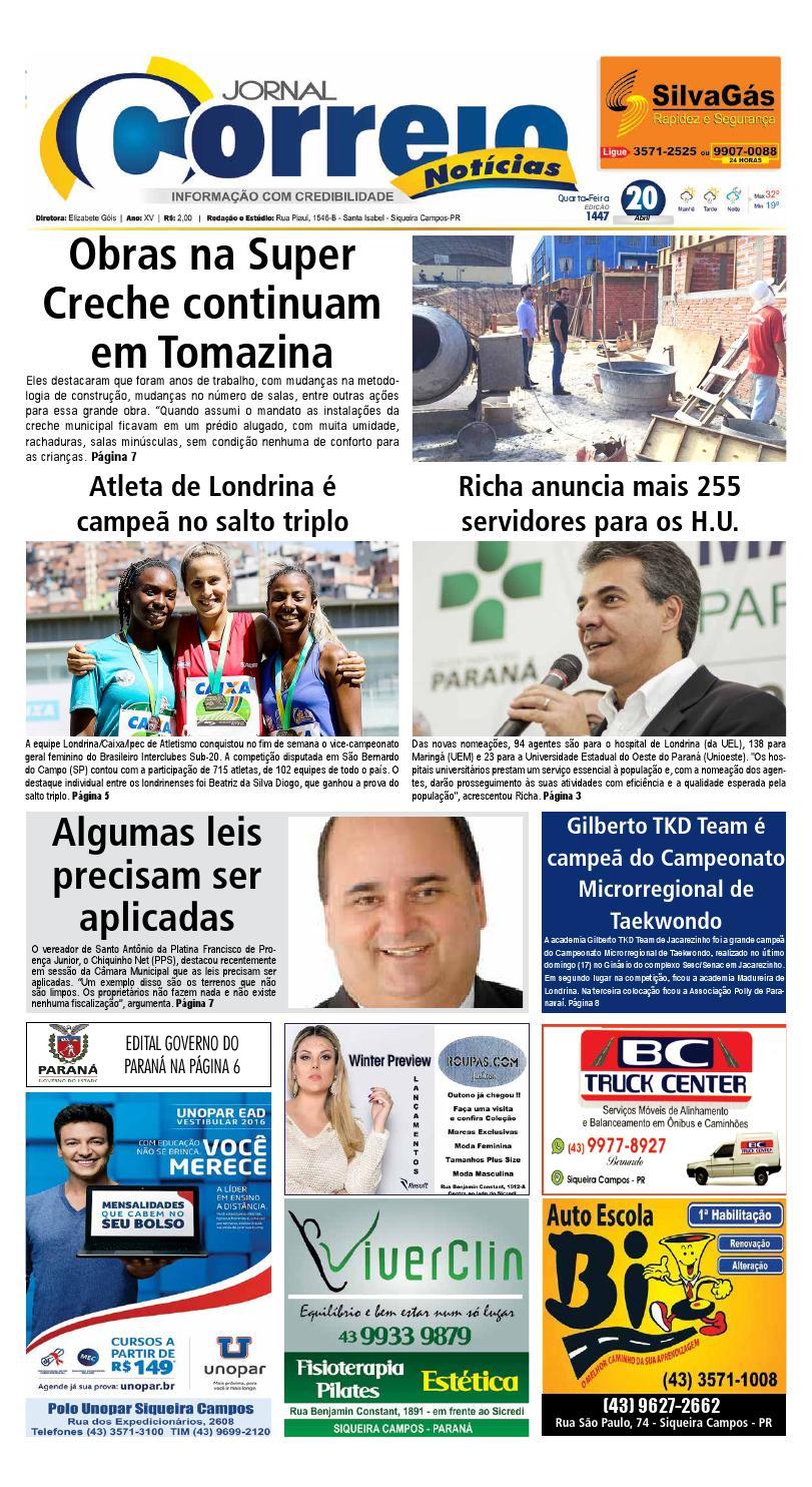 Jornal Correio Notícias - Edição 1447 (20 04 2016) by Jornal Correio  Notícias - issuu d1449f6de0bc9