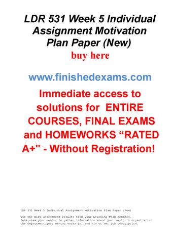 ldr 531 motivation Uop students is the bulky study material provider of ldr 531 final exam, ldr 531 final exam answers free, ldr 531 organizational leadership final exam, ldr 531.