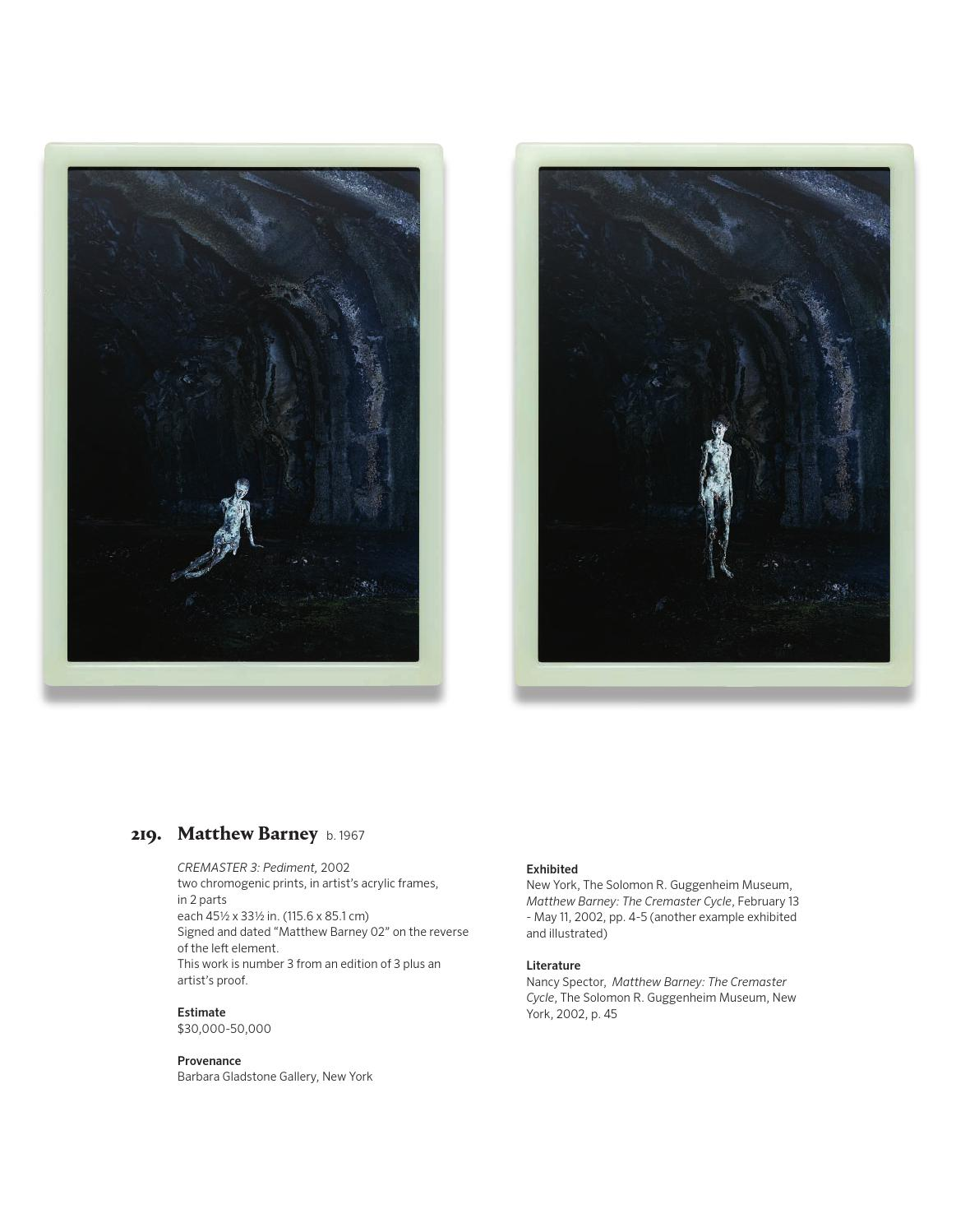 20TH CENTURY & CONTEMPORARY ART DAY SALE [Catalogue] by