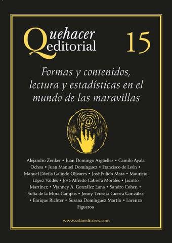 771219b2b36 Quehacer Editorial 15 Formas y contenidos