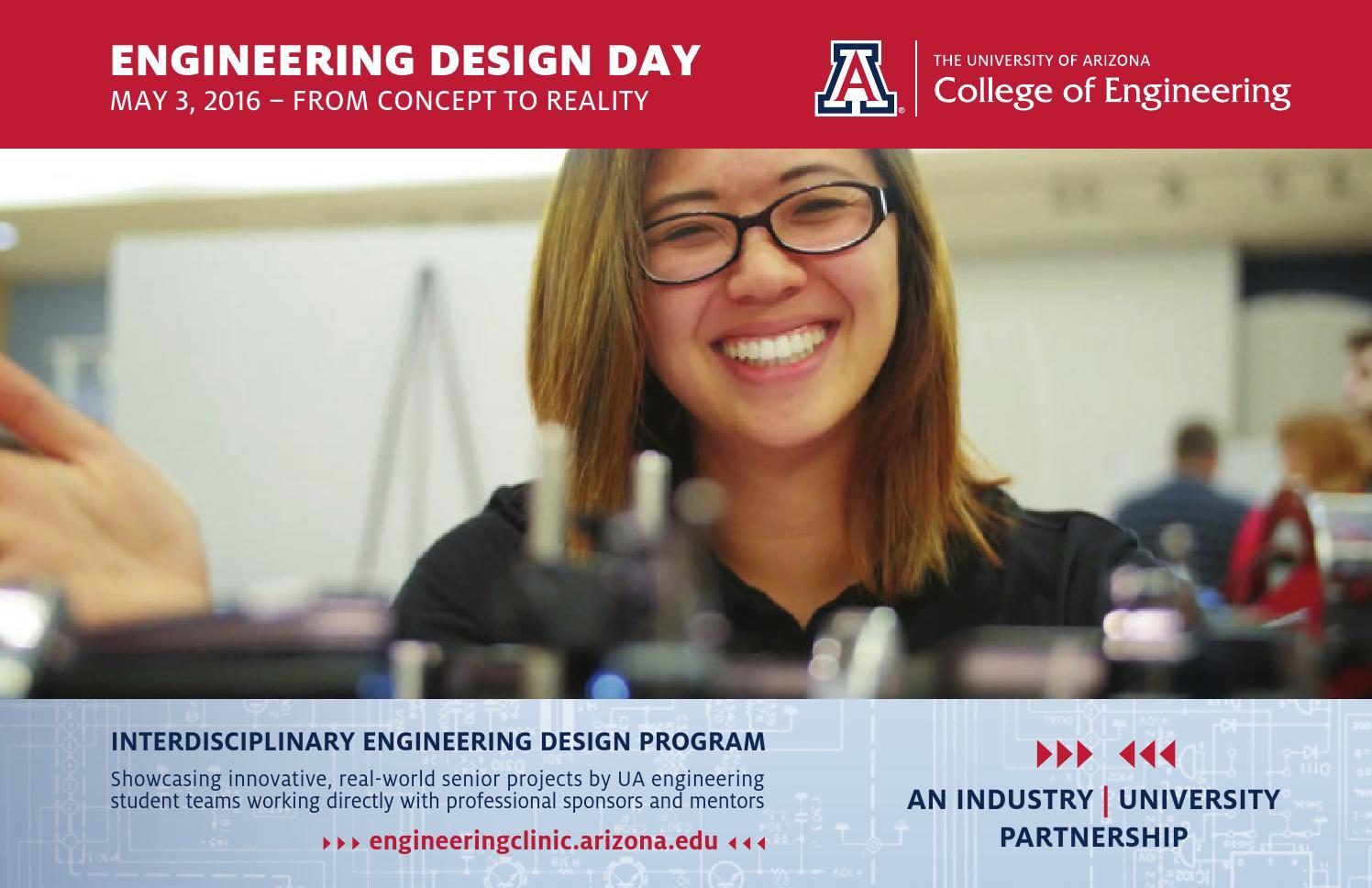 Ua Engineering Design Day Book 2016 By University Of Arizona