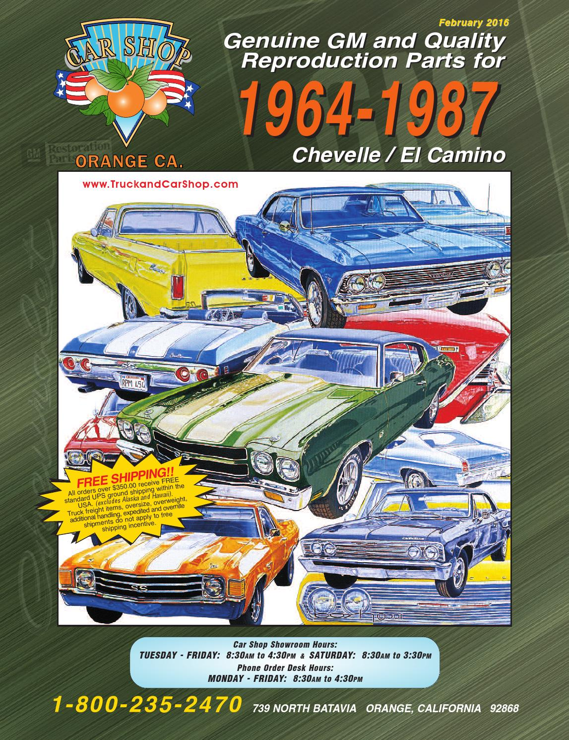 Chevelle Web Cat 13 By Truck Car Shop Issuu Index Of Dodge Ctd 1991 5 Wiring Diagrams Parent Directory