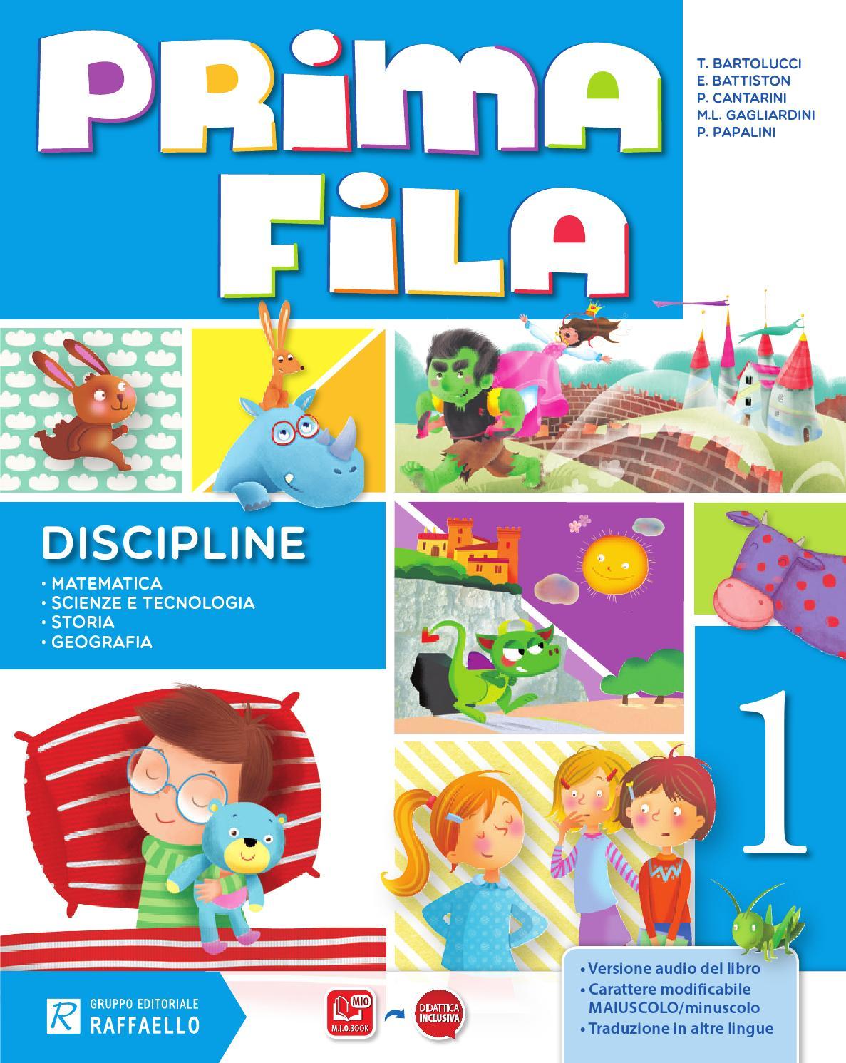 Prima Fila Classe 1 Discipline By Gruppo Editoriale Raffaello