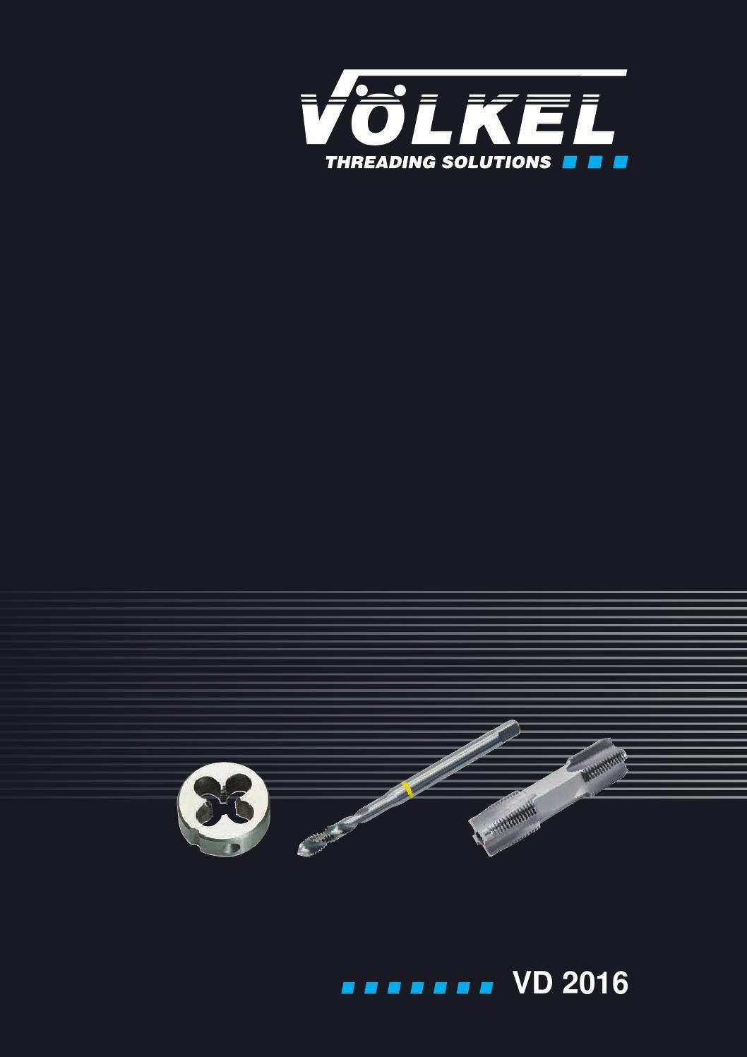 HSS-G 27422 DIN 223 Fili/ères rondes DIN EN 22568 M/2.5 x 0.45 V/ölkel