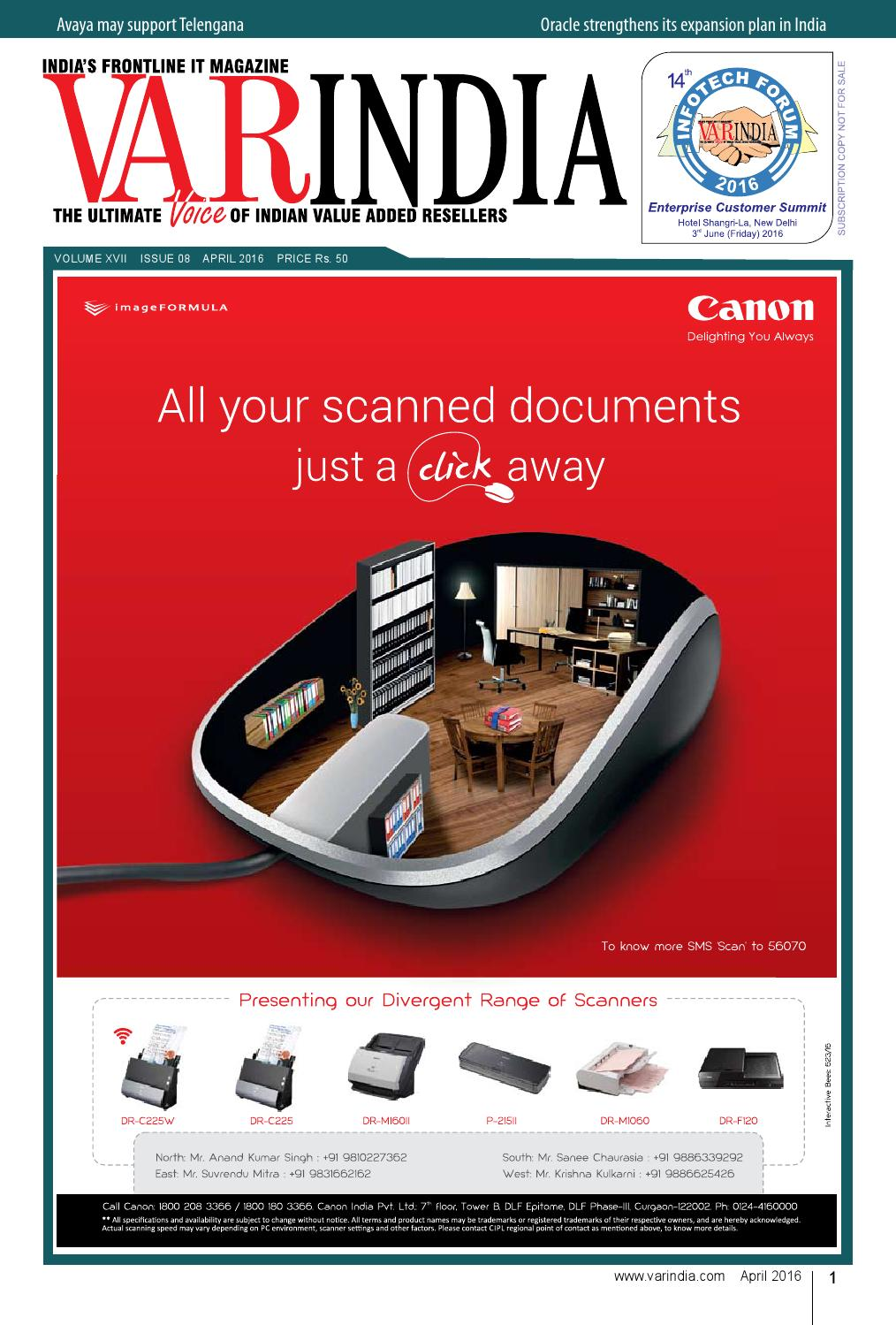 April 2016 E Magazine Issue By Varindia Issuu Upper Red Premium Canon Ir 5000 Oem