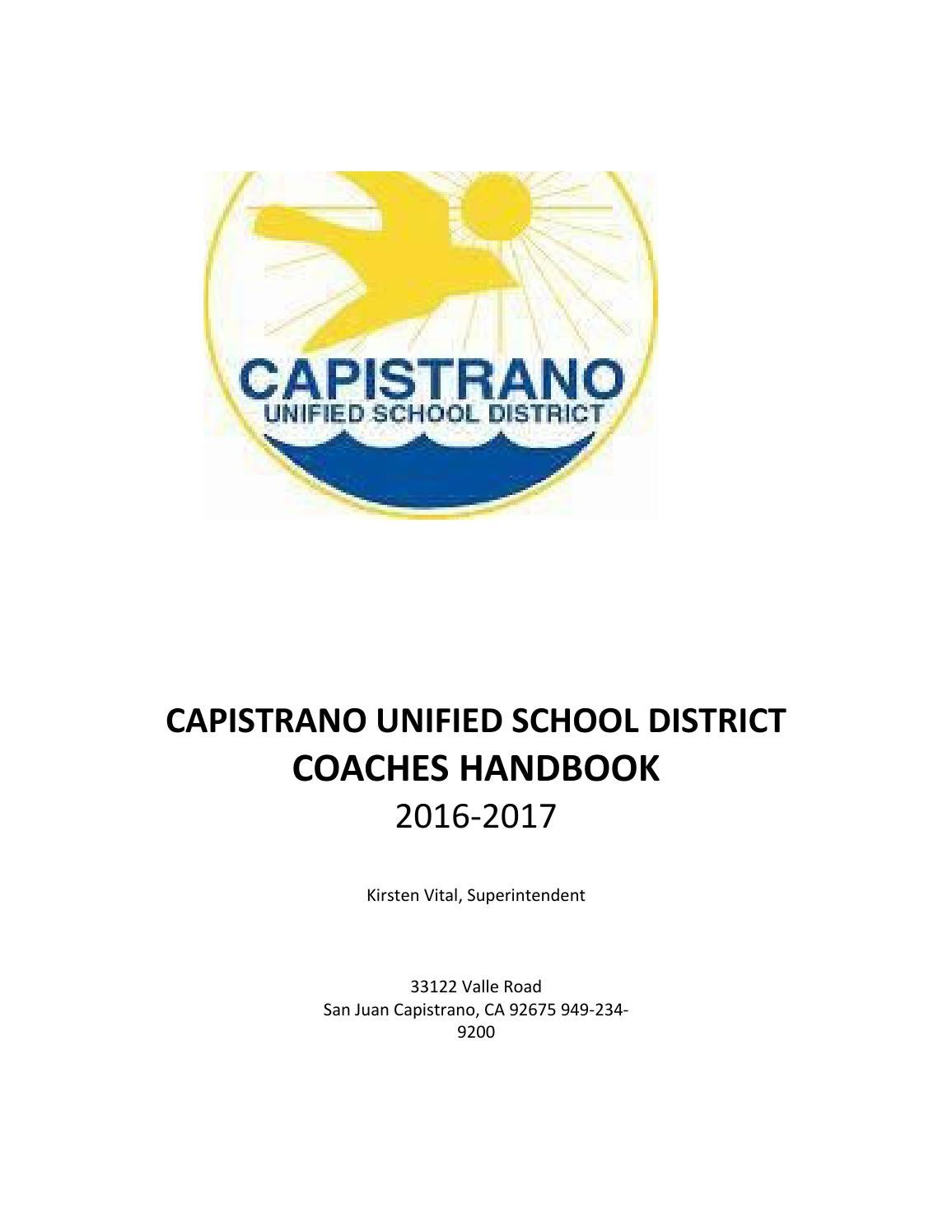 Capistrano unified coaches handbook by preps 365 issuu fandeluxe Choice Image