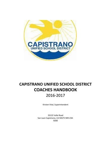 Capistrano unified coaches handbook by preps 365 issuu page 1 fandeluxe Choice Image