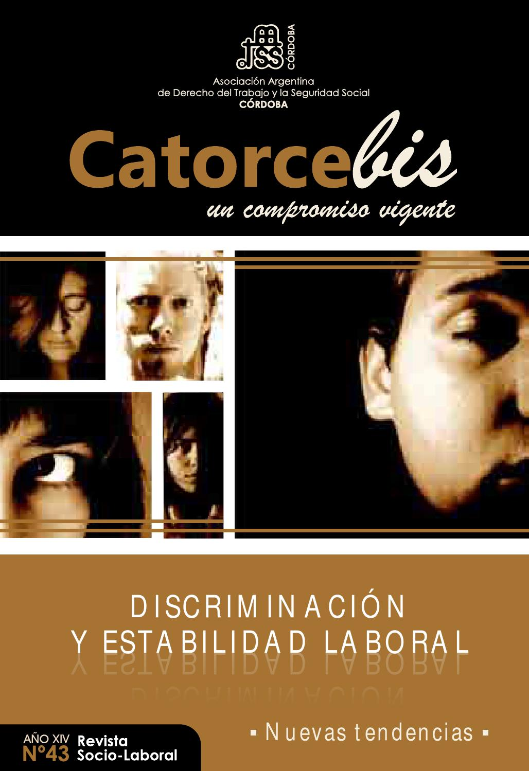 Catorce Bis Nº 43 by Asociaci³n Laboral AADTSSCba issuu