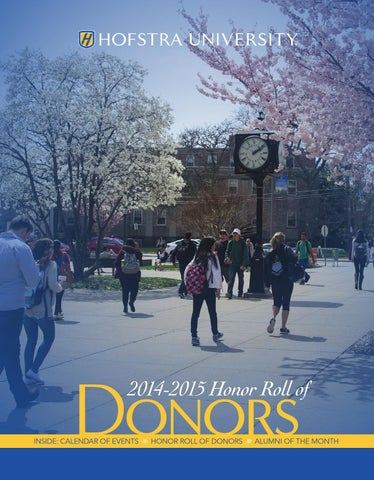 2014-2015 Honor Roll of Donors by Hofstra University - issuu