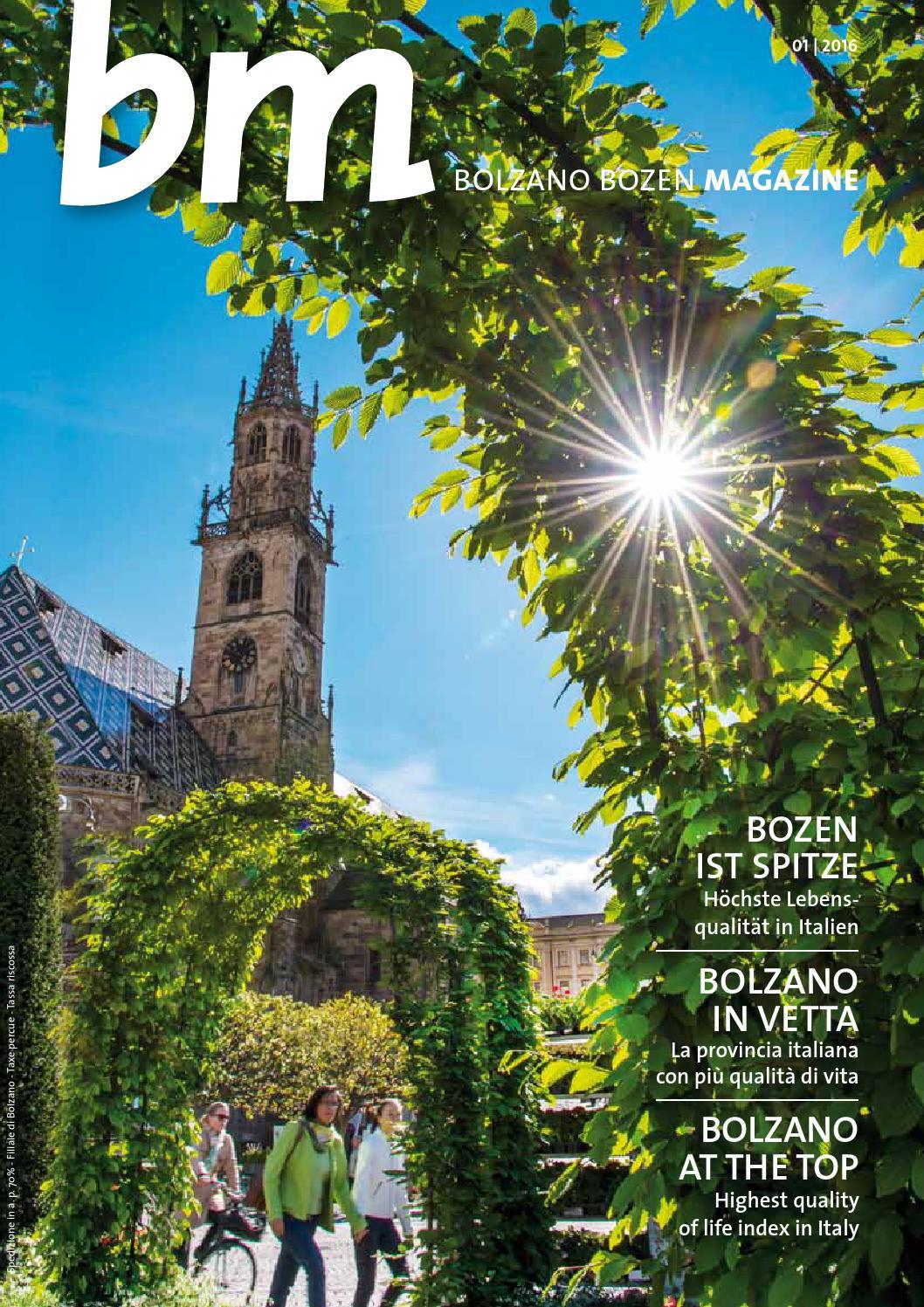 Bolzano bozen magazine 1 2016 by bolzano bozen issuu for Azienda di soggiorno bolzano