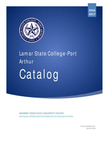 2016 15 lamar state college port arthur catalog by gerry dickert issuu page 1 fandeluxe Choice Image