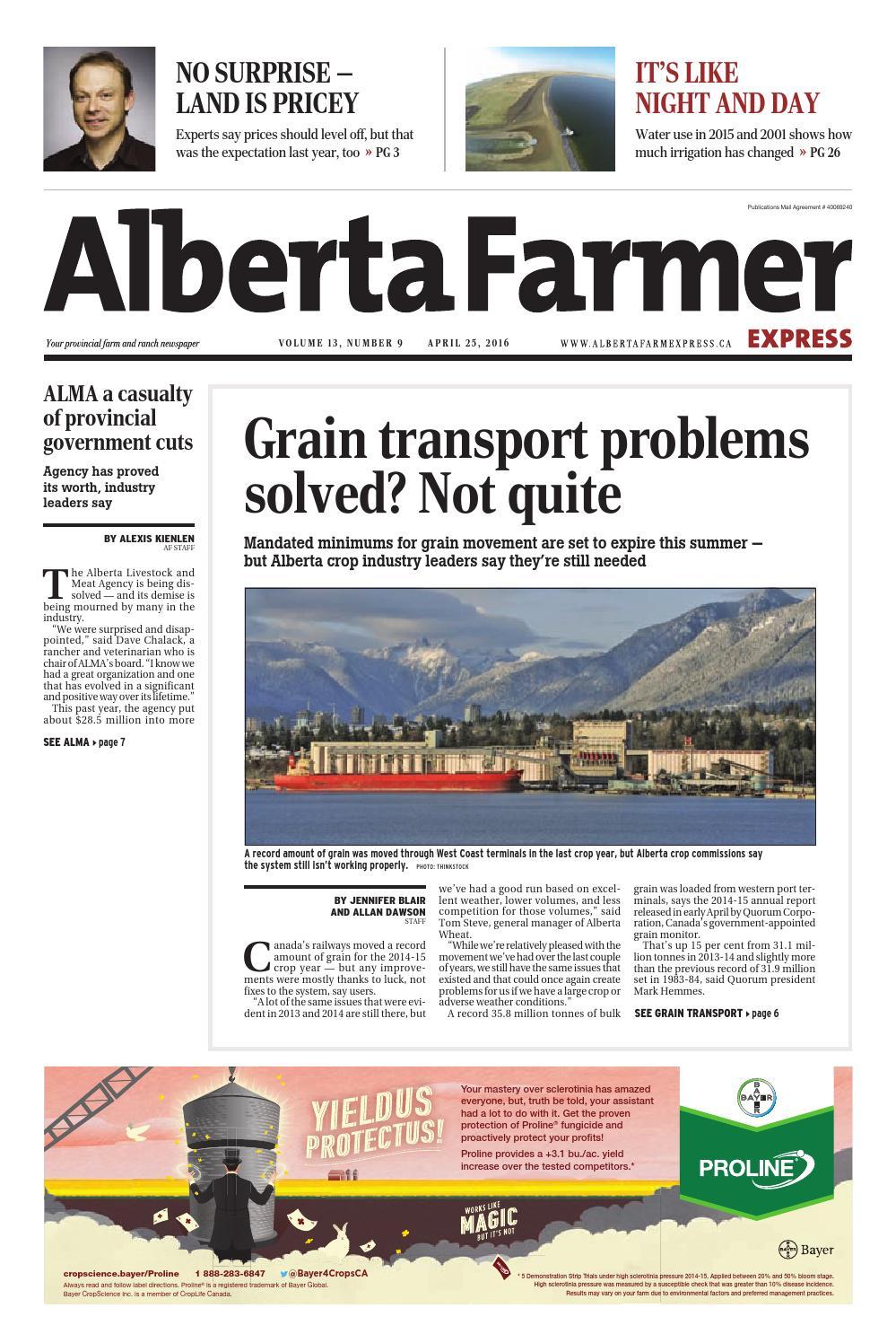 Alberta farmer express by Farm Business Communications - issuu